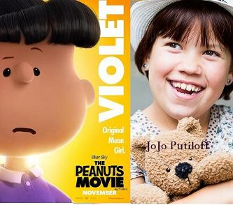 snoopy film - role: VIOLET GRAY